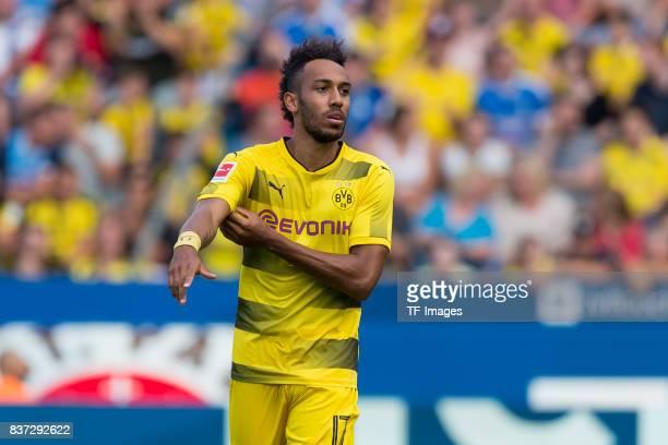 PierreEmerick Aubameyang of Dortmund looks on during the preseason friendly match between VfL Bochum and Borussia Dortmund at Vonovia Ruhrstadion on...