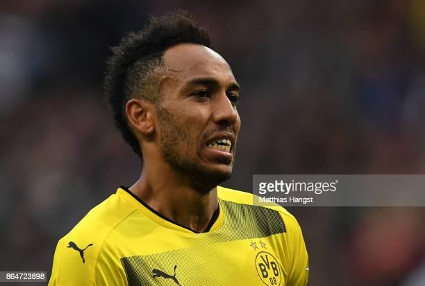 PierreEmerick Aubameyang of Dortmund seen during the Bundesliga match between Eintracht Frankfurt and Borussia Dortmund at CommerzbankArena on...