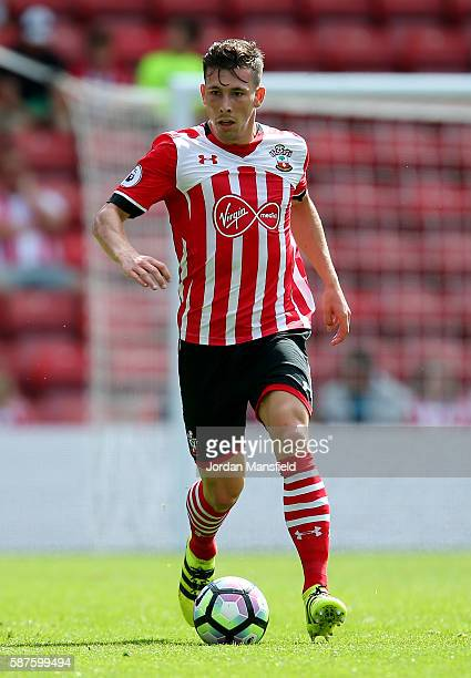 PierreEmile Hojbjerg of Souhtampton in action during the preseason friendly between Southampton and Athletic Club Bilbao at St Mary's Stadium on...