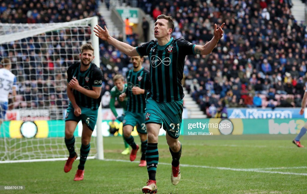 Wigan Athletic v Southampton - The Emirates FA Cup Quarter Final : News Photo