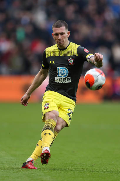 PierreEmile Hojbjerg of Southampton during the Premier League match between West Ham United and Southampton FC at London Stadium on February 29 2020...
