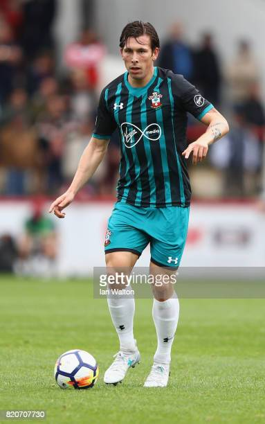 PierreEmile Hojbjerg of Southampton in action during the Pre Season Friendly match between Brentford and Southampton at Griffin Park on July 22 2017...