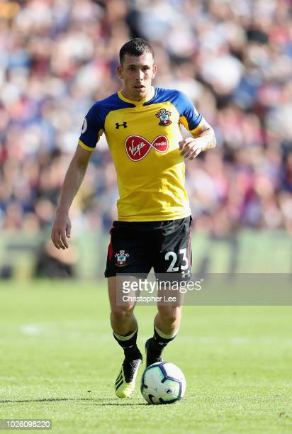 PierreEmile Hojbjerg of Southampton in action during the Premier League match between Crystal Palace and Southampton FC at Selhurst Park on September...