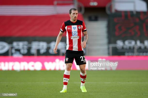 Pierre-Emile Hojbjerg of Southampton looks on during the Premier League match between Southampton FC and Arsenal FC at St Mary's Stadium on June 25,...