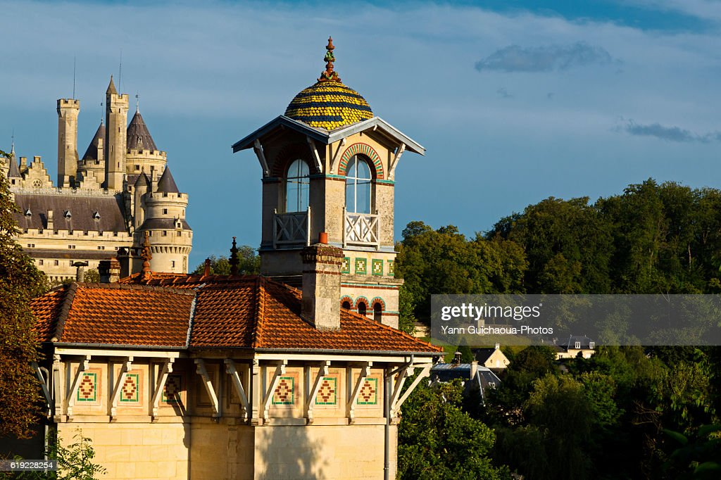 Pierrefonds, forest of Compiegne, Oise,Picardy,France : Stock Photo