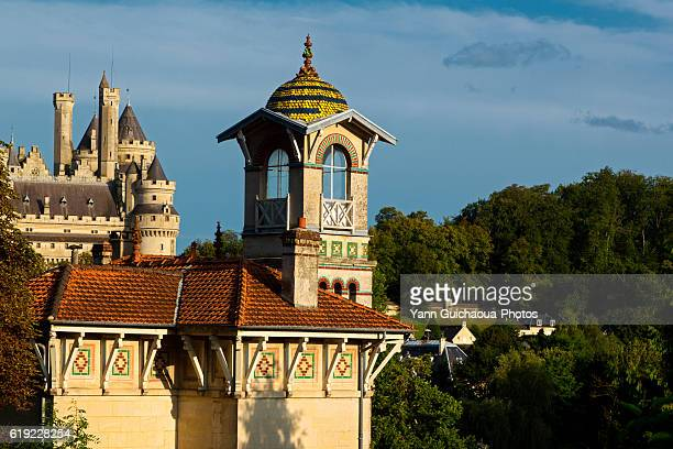 pierrefonds, forest of compiegne, oise,picardy,france - oise stock photos and pictures