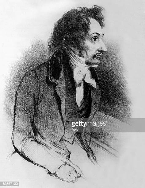 PierreFrancois Lacenaire french dandy poet and criminal drawing