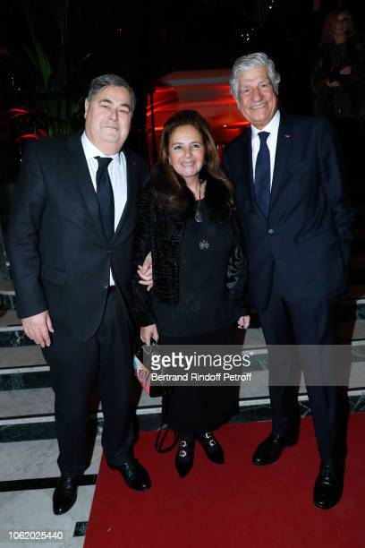PierreFrancois Veil his wife Barbara Veil and President of the PasteurWeizmann Council Maurice Levy attend the Gala evening of the PasteurWeizmann...