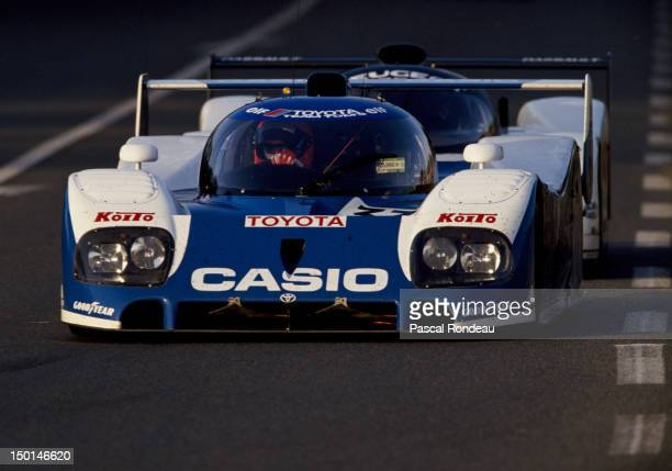 PierreHenri Raphanel of France drives the Toyota Team Tom's Toyota TS010 during the FIA World Sportscar Championship 24 Hours of Le Mans race on 21st...