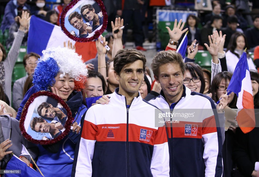 Japan v France: Davis Cup World Group - Day Two