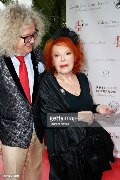 PierreJean Chalencon and Regine attend 'La Femme dans le Siecle Waman in the Century' Dinner at Jardin des Tuileries on July 5 2018 in Paris France
