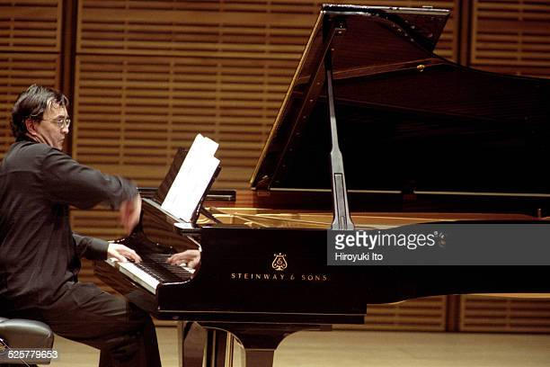 Pierre-Laurent Aimard performing the music of Elliott Carter and Charles Ives at Zankel Hall on Monday night, May 17, 2004.