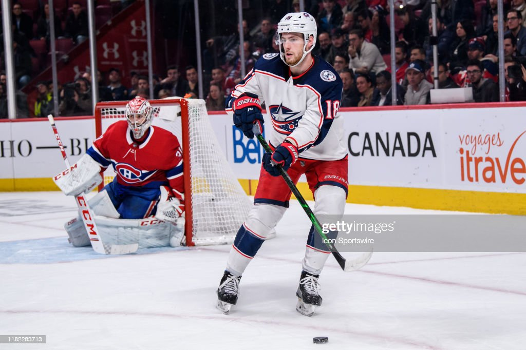 NHL: NOV 12 Blue Jackets at Canadiens : News Photo