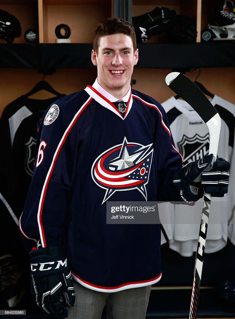 Pierre-Luc Dubois, selected third overall by the Columbus ...