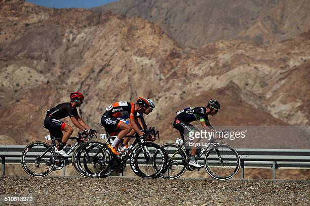 PierreLuc Perichon of France and Fortuneo Vital Concept leads the breakaway group during stage two of the 2016 Tour of Oman a 162km stage from...
