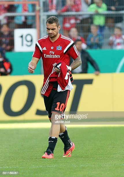 Pierre-Michel Lasogga, Einzelbild, Aktion , HSV Hamburger SV, DFB Pokal, Sport, Fußball Fussball, Stadion der Freundschaft Cottbus, Herren, Saison...