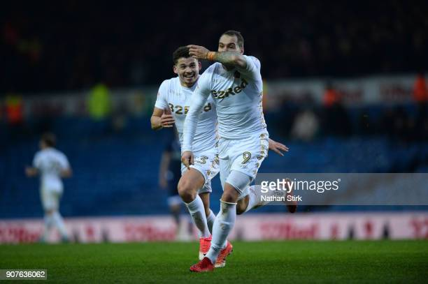 PierreMichel Lasogga of Leeds United celebrates after scoring during the Sky Bet Championship match between Leeds United and Millwall at Elland Road...