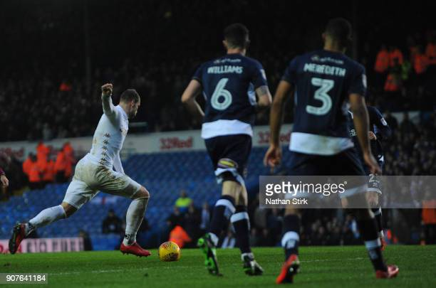 PierreMichel Lasogga of Leeds United scores during the Sky Bet Championship match between Leeds United and Millwall at Elland Road on January 20 2018...