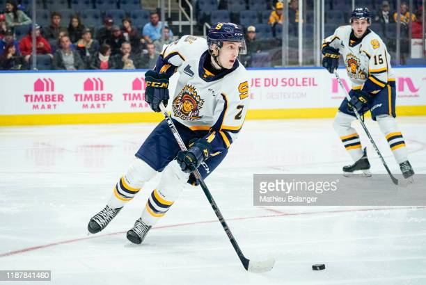 Pierre-Olivier Bourgeois of the Shawinigan Cataractes skates during his QMJHL hockey game at the Videotron Center on October 26, 2019 in Quebec City,...