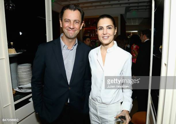 PierreYves Roussel and a guest attend the Mastermind Magazine launch dinner as part of Paris Fashion Week Womenswear Fall/Winter 2017/2018 at Loulou...