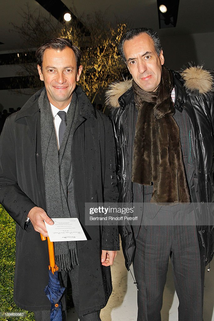 Pierre-Yves Roussel (L) and Prince Jaime de Marichalar attend the Christian Dior Spring/Summer 2013 Haute-Couture show as part of Paris Fashion Week at on January 21, 2013 in Paris, France.