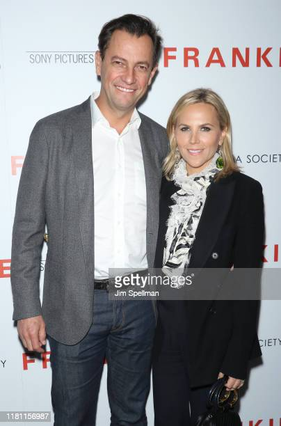 """Pierre-Yves Roussel and Tory Burch attend the special screening of """"Frankie"""" hosted by Sony Pictures Classics and The Cinema Society at Metrograph on..."""
