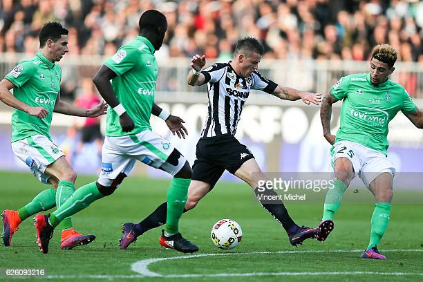 Pierrick Capelle of Angers during the French Ligue 1 match between Angers and Saint Etienne on November 27 2016 in Angers France
