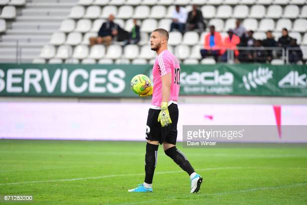 Pierrick Cros of Red Star during the Ligue 2 match between Red Star FC and Bourg en Bresse at Stade Jean Bouin on April 21 2017 in Paris France