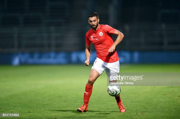 Pierrick Valdivia of Nimes during the French Ligue 2 match between Nimes and Reims on July 28 2017 in Nimes France