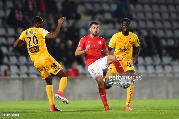 Pierrick Valdivia of Nimes during the Ligue 2 match between Nimes Olympique and Stade Brestois at on October 20 2017 in Nimes France