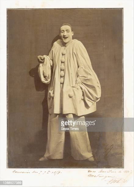 Pierrot Laughing Gelatin-coated salted paper print , 27.3 x 19.8 cm , Photographs, Nadar , Adrien Tournachon , We owe the contemporary image of...