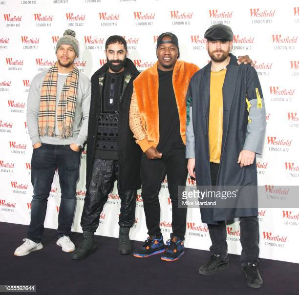 Piers Aggett Amir Amor Kesi Dryden and DJ Locksmith of Rudimental attend Westfield London's 10th anniversary celebrations at Westfield White City on...