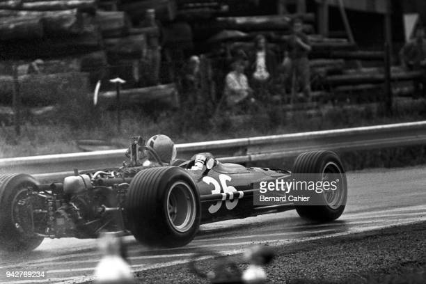 Piers Courage BRM P126 Grand Prix of France RouenLesEssarts 07 July 1968