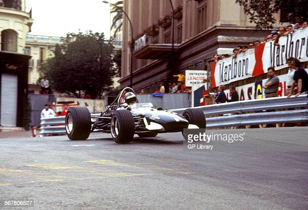 Piers Courage in Frank Williams's Brabham BT24 at Casino Corner finished 2nd Monaco GP 18 May 1969