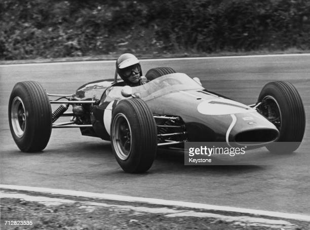 Piers Courage of Great Britain drives the Charles Lucas Brabham BT10 Ford/Holbay into Druids Hill Bend during the Brands Hatch £500 Challenge Trophy...
