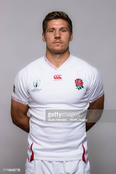 Piers Francis of England poses for a portrait during the England Rugby World Cup 2019 squad photo call on September 15, 2019 in Miyazaki, Japan.