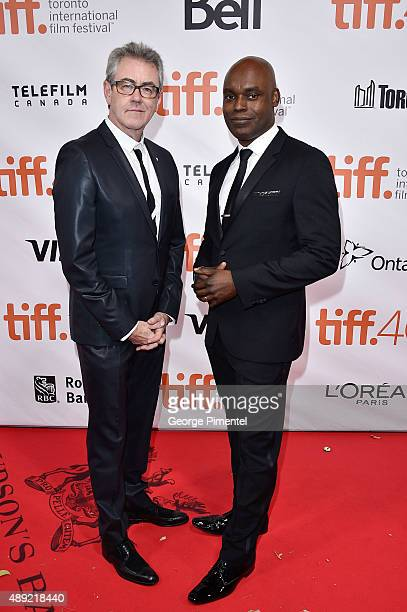 Piers Handling and TIFF Creative Director Cameron Bailey attend the Mr Right premiere during the Toronto International Film Festival at Roy Thomson...