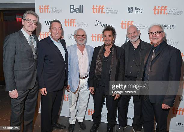Piers Handling, Ivan Reitman, Norman Jewison, Al Pacino, Brian de Palma and Barry Levinson attend the 3rd Annual TIFF Gala at TIFF Bell Lightbox on...
