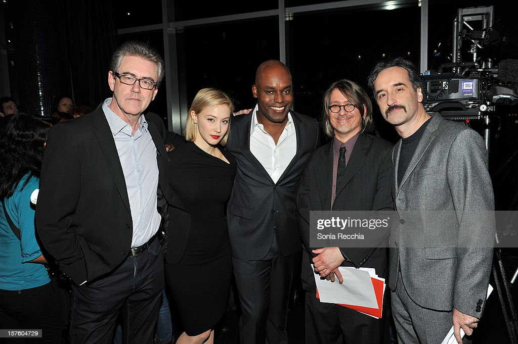 Piers Handling, Sarah Gadon, Cameron Bailey Steve Gravestock and Don McKellar attend Canada's Top Ten Announcement/Press Conference at TIFF Bell Lightbox on December 4, 2012 in Toronto, Canada.