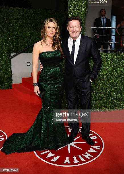 Piers Morgan and Celia Walden arrive at the Vanity Fair Oscar party hosted by Graydon Carter held at Sunset Tower on February 27, 2011 in West...