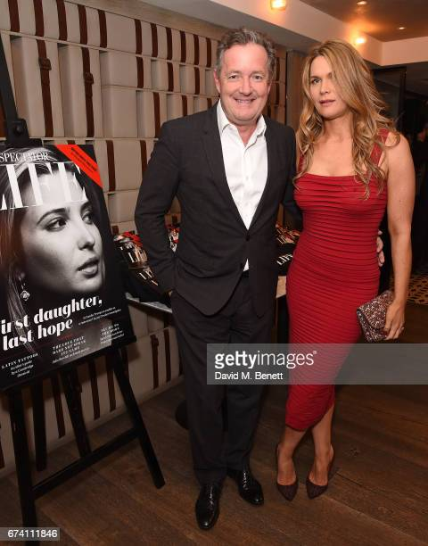 Piers Morgan and Celia Walden attend the Spectator Life 5th Birthday Party at the Hari Hotel on April 27 2017 in London England