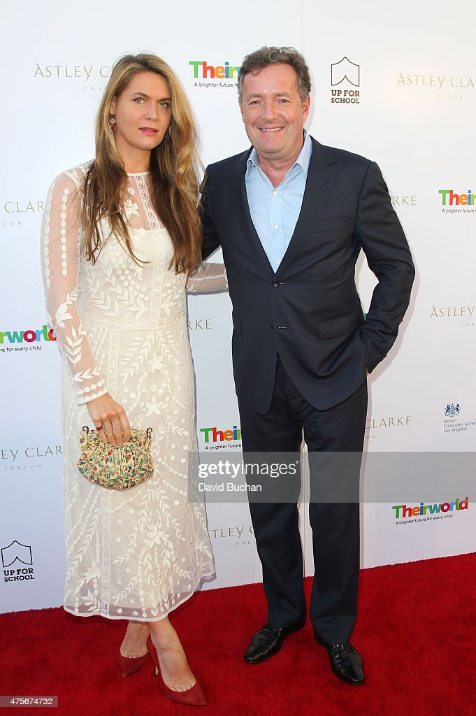 Piers Morgan and Celia Walden attend the Theirworld & Astley Clarke summer reception in celebration of charitable partnership at the private residence of the British Consul General in Los Angeles on June 2, 2015 in Los Angeles, California.