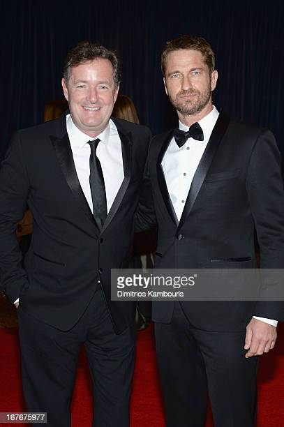 Piers Morgan and Gerard Butler attend the White House Correspondents' Association Dinner at the Washington Hilton on April 27 2013 in Washington DC