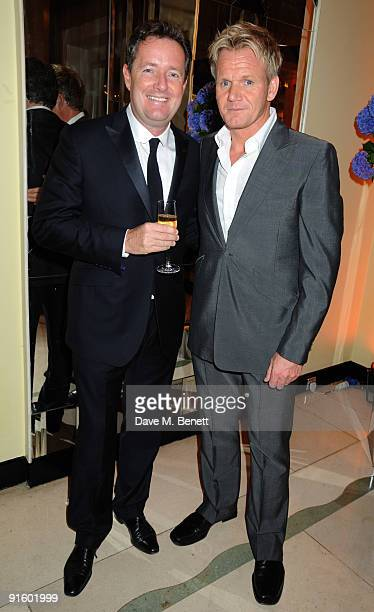 Piers Morgan and Gordon Ramsay attend The Louis Dundas Centre for Children's Palliative Care launch party at Claridge's on October 8 2009 in London...