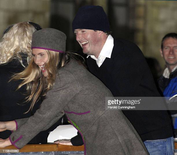 Piers Morgan and guest during Opening Night of the Natural History Museum Ice Rink VIP Press Night November 14 2006 at Natural History Museum in...