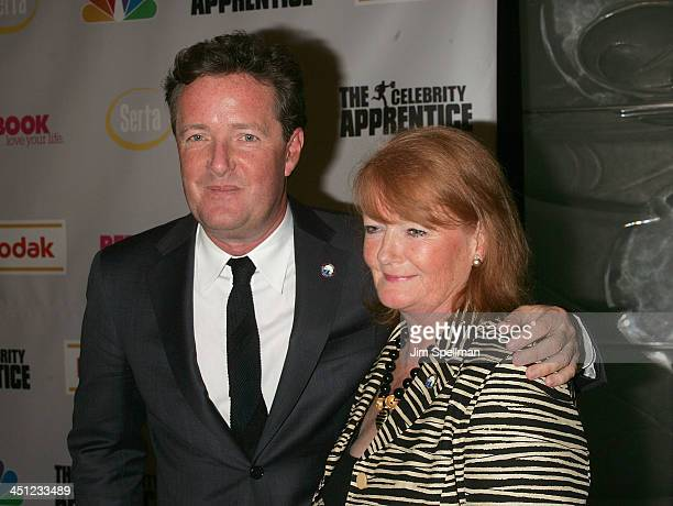 Piers Morgan and his Mom attends The Celebrity Apprentice Finale at Rock Center Cafe, Rockefeller Center on March 27, 2008 in New York City.