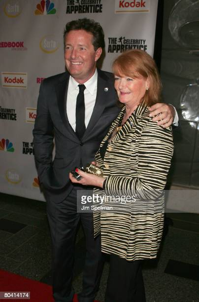 "Piers Morgan and his Mom attends ""The Celebrity Apprentice"" Finale at Rock Center Cafe, Rockefeller Center on March 27, 2008 in New York City."