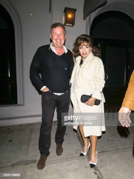 Piers Morgan and Joan Collins are seen on October 30, 2018 in Los Angeles, California.