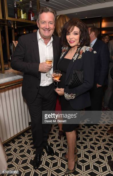Piers Morgan and Joan Collins attend the Spectator Life 5th Birthday Party at the Hari Hotel on April 27 2017 in London England