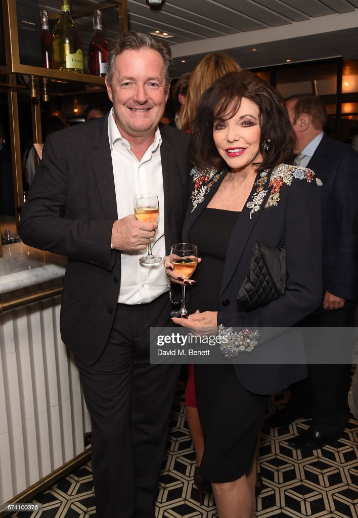 Piers Morgan and Joan Collins attend the Spectator Life 5th Birthday Party at the Hari Hotel on April 27, 2017 in London, England.